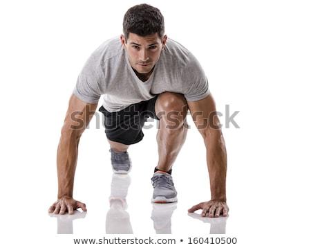 фитнес · инструктор · осуществлять · белый · девушки - Сток-фото © stockyimages