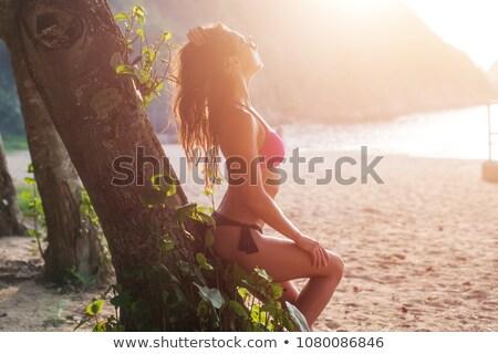 vreedzaam · brunette · genieten · zonneschijn · park · gelukkig - stockfoto © wavebreak_media