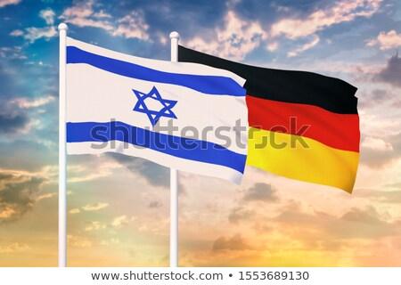 Duitsland Israël vlaggen vector afbeelding puzzel Stockfoto © Istanbul2009