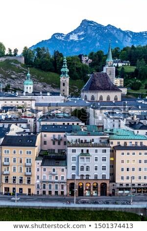 kilátás · város · európai · Ausztria · néz · folyó - stock fotó © sarahdoow