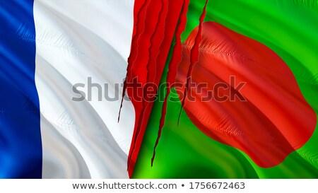 Franciaország Banglades zászlók puzzle izolált fehér Stock fotó © Istanbul2009