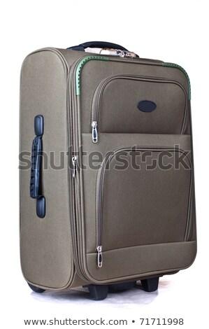 green convenient suitcase on castors Stock photo © shutswis