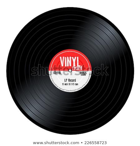 黒 · ビニール · レコード · lp · アルバム · ディスク - ストックフォト © netkov1