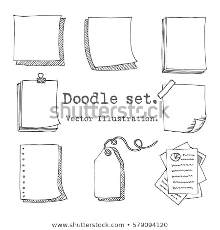 Doodle Notepad icon.  Stock photo © pakete