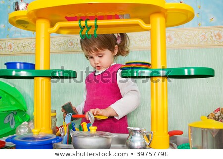 little girl washes ware Stock photo © Paha_L