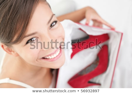 red high heeled woman shoes in white box isolated  Stock photo © tetkoren