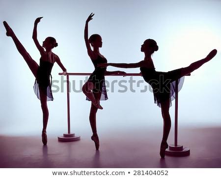 3  小さな ストレッチング バー ライラック 少女 ストックフォト © master1305
