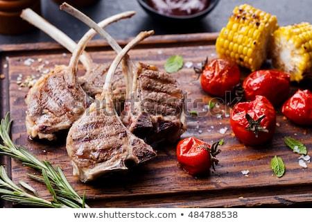 carne · filetto · forcella · isolato · bianco · alimentare - foto d'archivio © karandaev