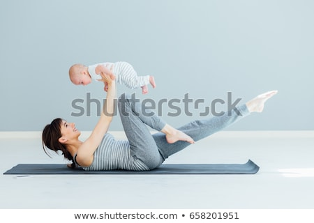 Sportu matka baby ciało fitness zdrowia Zdjęcia stock © Paha_L