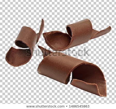 Chocolade hoop glazuursuiker papier mint Stockfoto © Digifoodstock