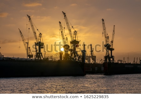 port of hamburg on the river elbe the largest port in germany stock photo © vladacanon