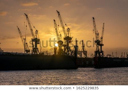 порта Гамбург реке Германия бизнеса Сток-фото © vladacanon