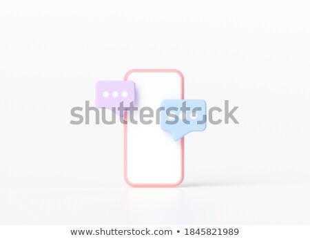 összetett kép okostelefon sms chat appok kilátás Stock fotó © wavebreak_media