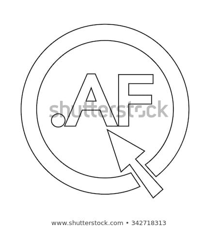 Afghanistan Domain dot AF sign icon Illustration Stock photo © kiddaikiddee