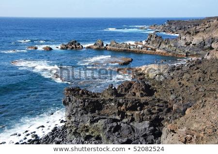view of Los Hervideros del Agua in Lanzarote, Canary Islands, Sp Stock photo © meinzahn