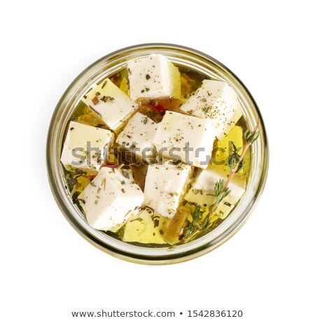 Stock photo: Feta cheese and pickles