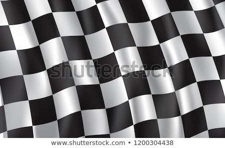 nyertes · kockás · kockás · zászló · motor · versenyzés - stock fotó © fenton