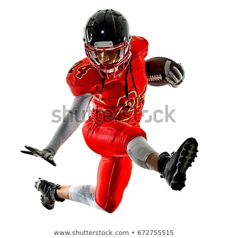 vonzó · nő · amerikai · futballista · közelkép · portré · egyenruha - stock fotó © elnur
