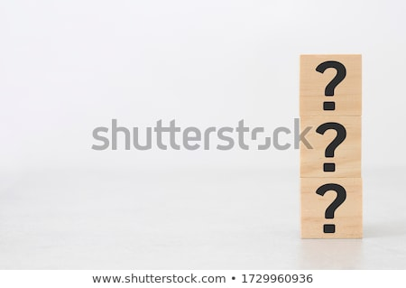 Ideen Holztisch Frage Büro Uhr Bildung Stock foto © fuzzbones0