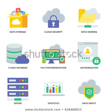 safety global cloud icon flat design stock photo © wad