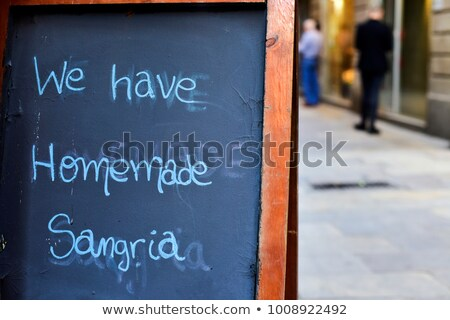 chalkboard with a list of cocktails in Barcelona, Spain Stock photo © nito