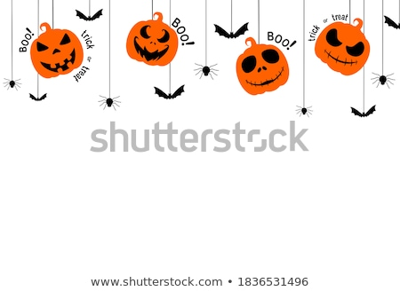 Halloween icons on white background Stock photo © punsayaporn