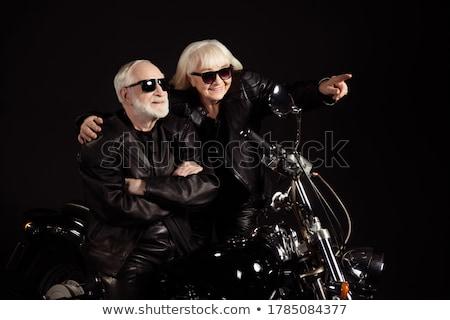 горячей · рок · катиться · пару · кожа · Солнцезащитные · очки - Сток-фото © feedough