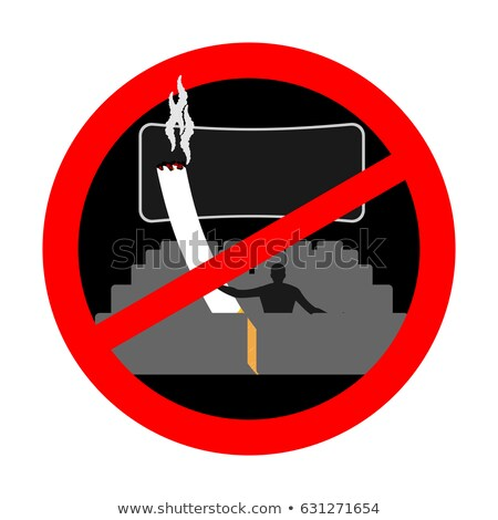 No smoking in cinema. Red sign prohibiting smoking. Ban smokers  Stock photo © MaryValery