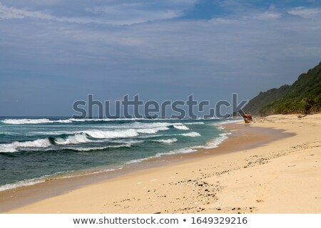 Photo stock: Colorful Waves Isolated Abstract Background Ocher And White Magenta