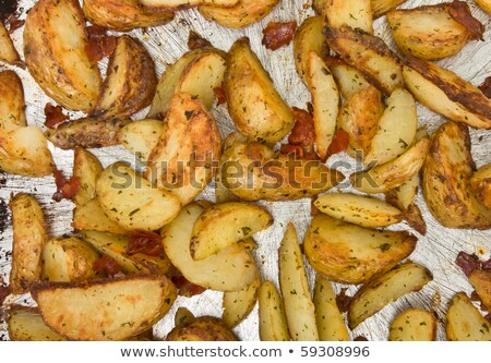 Tray of Spiced Potato Skins Stock photo © monkey_business