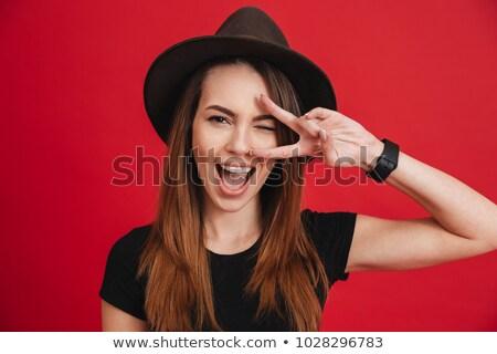 Hand showing the V sign Stock photo © Leftleg