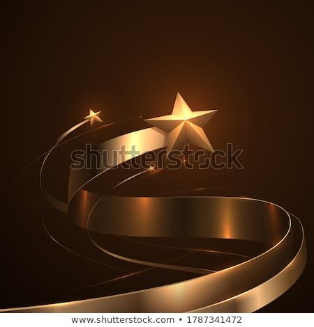 金 グリッター リボン テクスチャ 背景 ストックフォト © biv