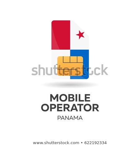 Panama mobile operator. SIM card with flag. Vector illustration. Stock photo © Leo_Edition