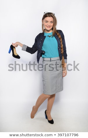 woman sitting without her shoes stock photo © manera