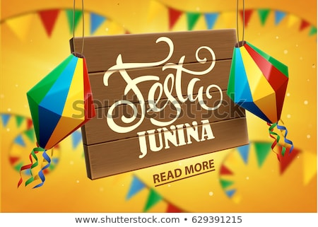 festa junina celebration background for june party festival stock photo © sarts