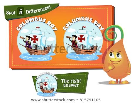 Vinden verschillen dag spel kinderen taak Stockfoto © Olena