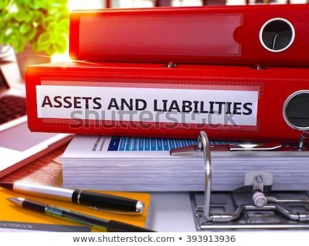 red office folder with inscription assets and liabilities stock photo © tashatuvango