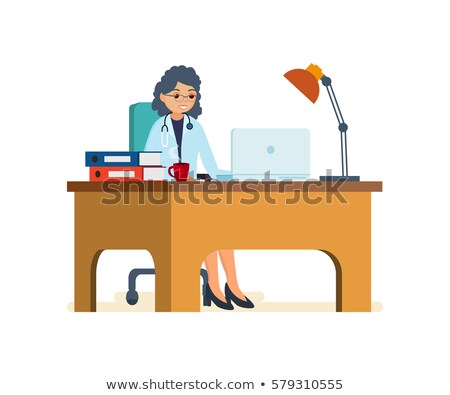 Chief doctor at desk. Medical Office. Physician working in his o Stock photo © popaukropa