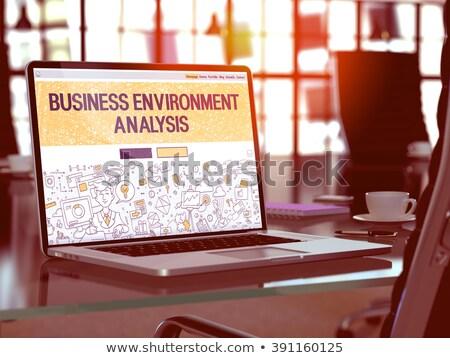 Iş çevre analiz dizüstü bilgisayar ekran Stok fotoğraf © tashatuvango
