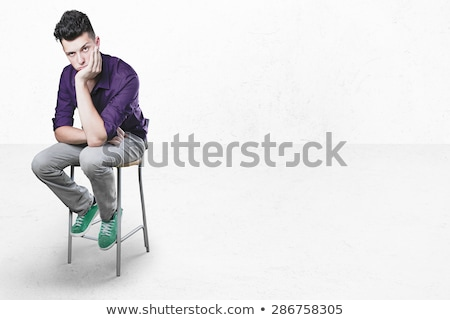 Man bored sitting at table Stock photo © IS2