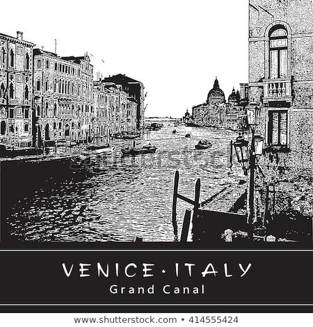 City black and white illustration clip-art image vector eps Stock photo © vectorworks51
