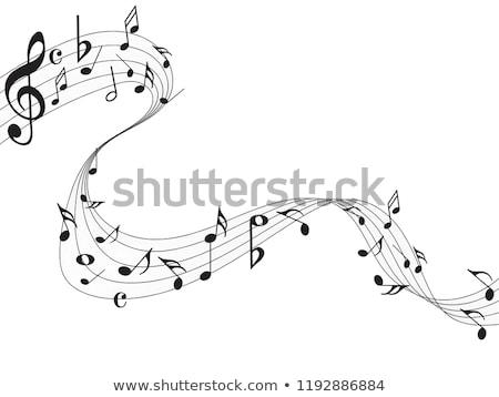 Güzel müzik notaları dalga dizayn müzik Retro Stok fotoğraf © SArts