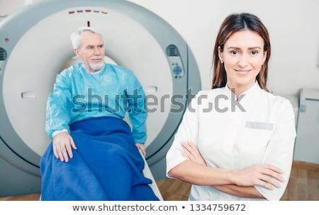 kettő · dedikált · orvosok · mosolyog · kamera · portré - stock fotó © is2