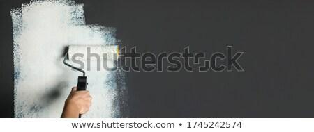 Female hand painting with brush Stock photo © Sonya_illustrations