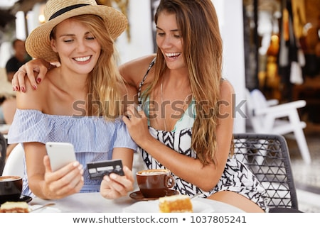 hot young embraced couple look at each other against  Stock photo © feedough