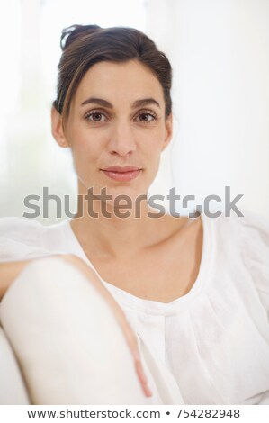 woman with striking eyes ebony faced Stock photo © IS2