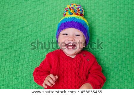 nino · temperatura · jóvenes · nino · termómetro · boca - foto stock © is2