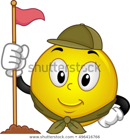 Smiley Scout Camp Flag Stock photo © lenm
