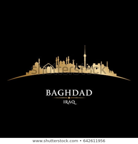 Gold Silhouette Of Baghdad On Black Background Сток-фото © YurkaImmortal