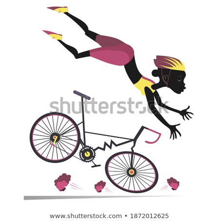 Stok fotoğraf: Yol · kaza · genç · kadın · bisiklet · örnek · kadın